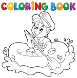 Coloring book little sailor theme 1