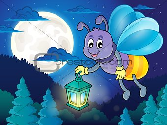 Firefly with lantern theme image 2