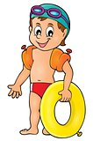 Little swimmer theme image 1