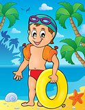 Little swimmer theme image 2