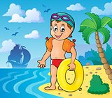Little swimmer theme image 3