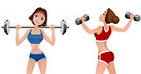 Two athletes girls