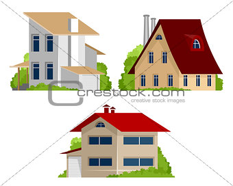 Three private houses