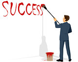 Businessman painting success
