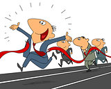 Businessmen wins the race