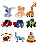 Nine toys set