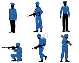 Six soldiers set