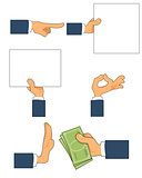 Six gestures set