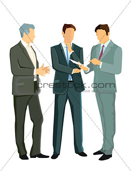 Three experts discuss together
