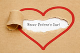 Happy Fathers Day Torn Paper Concept