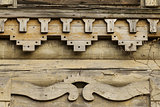 Detail of the exterior of an old wooden house