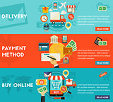 Buy Online, Payment Methods And Delivery Concept