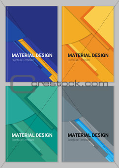 Abstract vector material design backgound templates