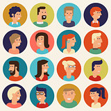Vector material cartoon character collection