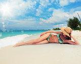 Tan in a tropical beach