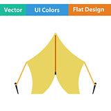 Flat design icon of touristic tent