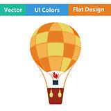 Flat design icon of hot air balloon