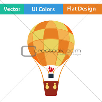 Flat design icon of hot air balloon