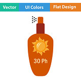 Flat design icon of sun protection spray