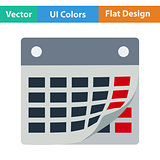 Flat design icon of calendar