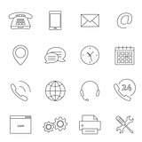 Contact us outline icons