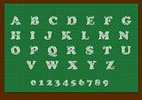 School blackboard with an alphabet