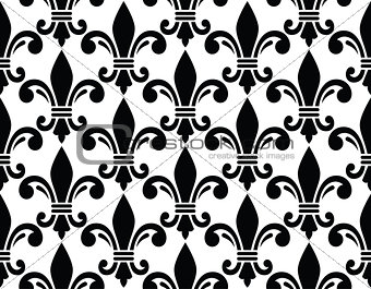 French style seamless pattern - Fleur de lis symbol