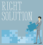 Vector Flat Business Concept Right Solution