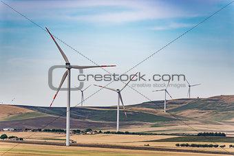 Air wind turbines