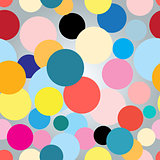 Seamless colorful graphic pattern with circles