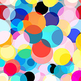 Seamless colorful graphic background with circles