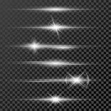 Set of glow light effect stars bursts with sparkles isolated on black transparent background template