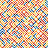 Vector Seamlesss Multicolor Geometric Line Maze Grid Irregular Pattern