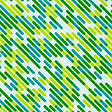 Vector Seamless Diagonal Blue Green Color Overlay Lines Pattern Background