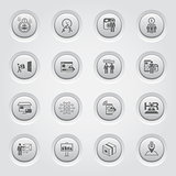 Button Design Business Icons Set