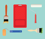 paint tools collection stuff vector illustration