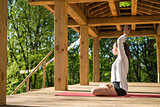 Girl's yoga training