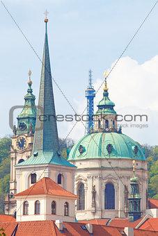 Czech Repunlic, Prague - Spires of Lesser Quarter and St. Nichol
