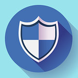 shield icon - protection symbol. Flat design style.