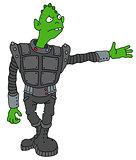 Funny dark alien