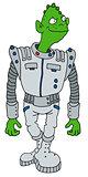 Funny green alien