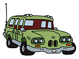 funny old green station wagon