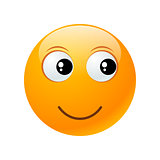 yellow round emoticon