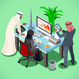 Arabic Muslim Isometric People