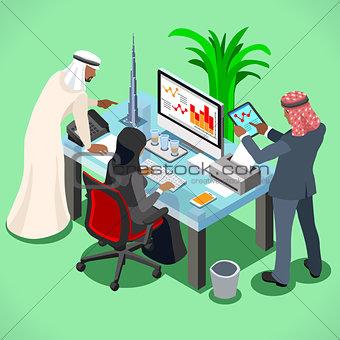 Arabic Muslim Isometric People