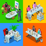 Business Indian 05 Isometric People