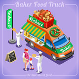 Food Truck 12 Isometric Vehicles