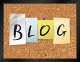 Blog Bulletin Board Theme Illustration