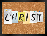 Christ Bulletin Board Theme Illustration