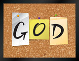 God Bulletin Board Theme Illustration